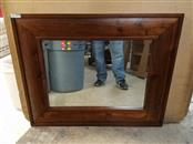 """Pottery Barn Wooden 19x27"""" Mirror - Overall 31x39"""""""